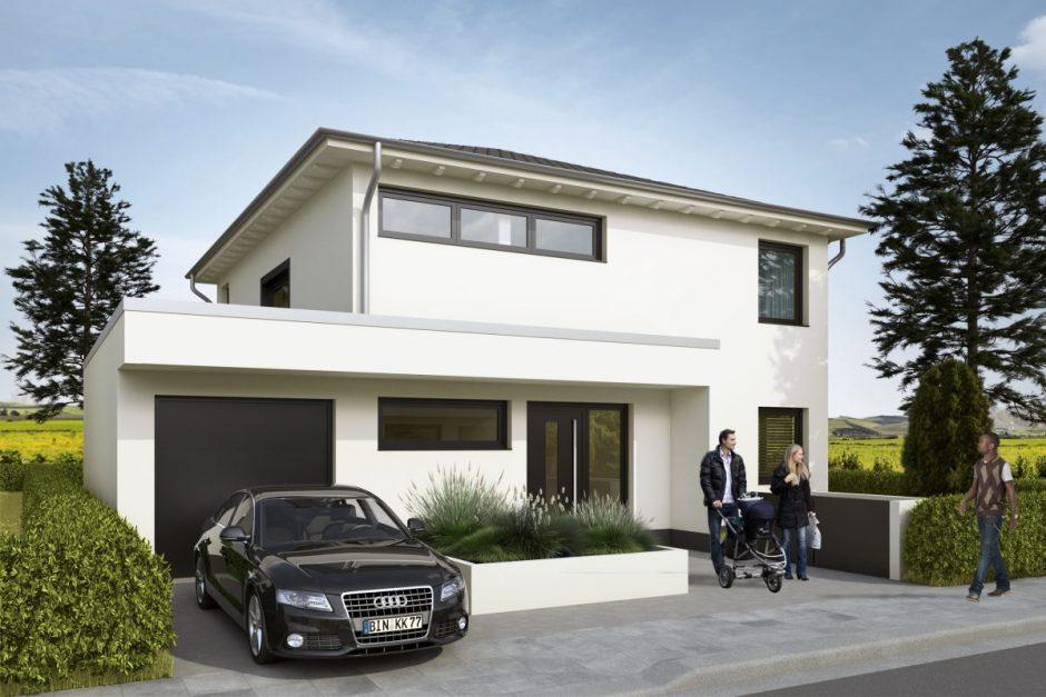 Exklusive Architektenhäuser mit Rheinbaublick