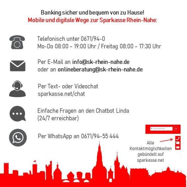Sparkasse Rhein-Nahe richtet Online-Übersicht ein
